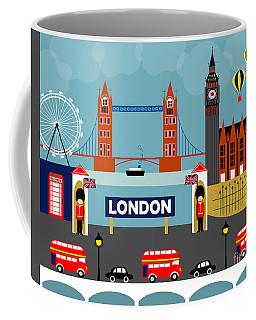 London England Horizontal Scene - Collage Coffee Mug
