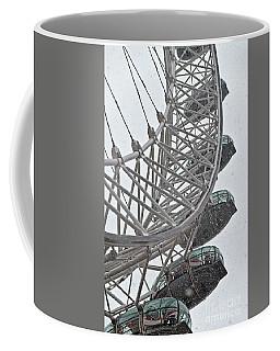 London Eye And Snow Coffee Mug