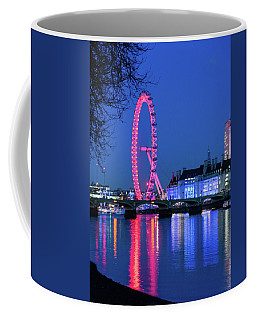 Coffee Mug featuring the photograph London Eye At Night by Steven Richman