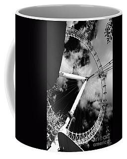 London Ferris Wheel Bw Coffee Mug