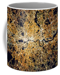 London From Space Coffee Mug by Delphimages Photo Creations