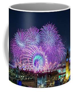 London New Year Fireworks Display Coffee Mug
