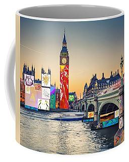 London Skyline Collage 3 Inc Big Ben, Westminster  Coffee Mug