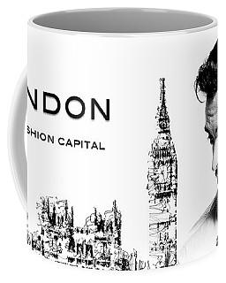 Coffee Mug featuring the digital art London The Fashion Capital by ISAW Company