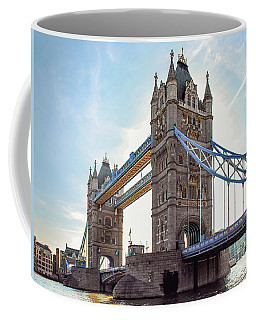 Coffee Mug featuring the photograph London - The Majestic Tower Bridge by Hannes Cmarits