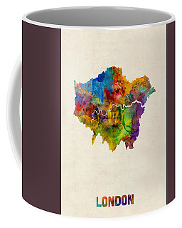 London Watercolor Map Coffee Mug
