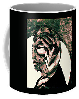 Coffee Mug featuring the painting Lone Bear by Larry Campbell