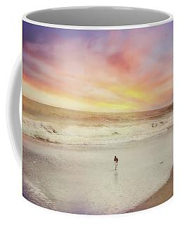 Lone Bird At Sunset Coffee Mug