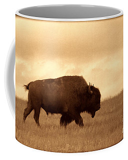 Lone Bison  Coffee Mug by American West Legend By Olivier Le Queinec