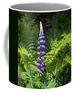 Lone Blue Lupine Coffee Mug