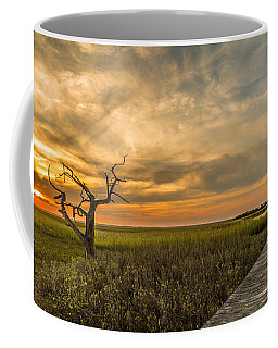 Lone Cedar Dock Sunset - Dewees Island Coffee Mug
