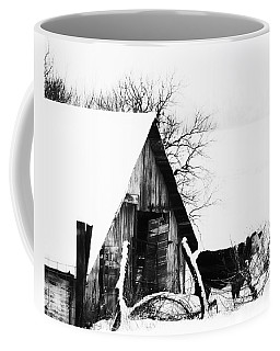 Lone Cow In Snowstorm Coffee Mug