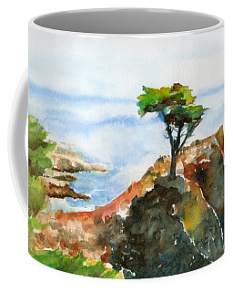 Lone Cypress Pebble Beach Fog Coffee Mug