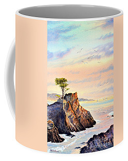 Lone Cypress Tree Pebble Beach Coffee Mug