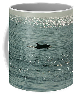 Lone Dolphin Coffee Mug by Allan Levin