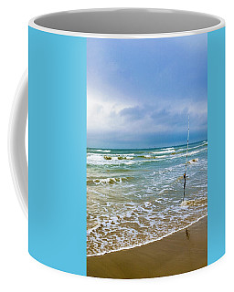Lone Fishing Pole Coffee Mug