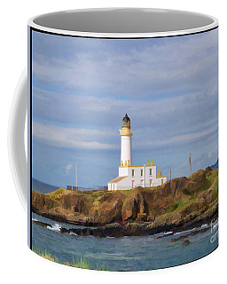 Coffee Mug featuring the photograph Lone Lighthouse In Scotland by Roberta Byram