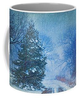 Lone Snowy Lane Coffee Mug