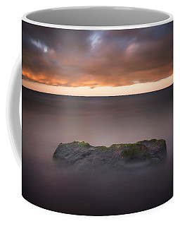 Coffee Mug featuring the photograph Lone Stone At Sunrise by Adam Romanowicz