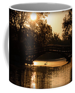Lone Swan Up For Dawn Coffee Mug