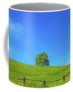 Lone Tree On A Hill Digital Art Coffee Mug