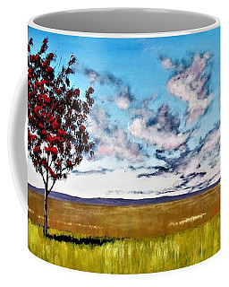 Lonely Autumn Tree Coffee Mug