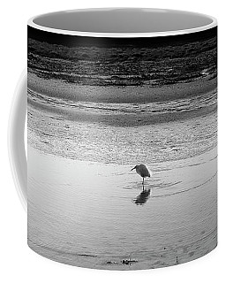 Coffee Mug featuring the photograph Lonely Heron by Nicholas Burningham