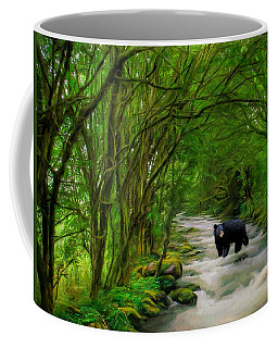 Coffee Mug featuring the painting Lonely Hunter by Steven Richardson