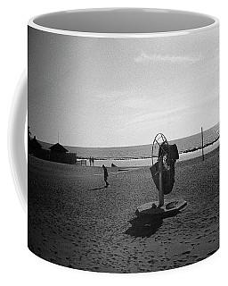 Lonely Man In Ostia Beach Coffee Mug