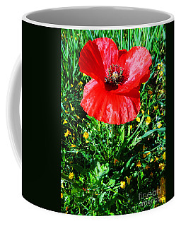 Lonely Poppy Coffee Mug by Don Pedro De Gracia