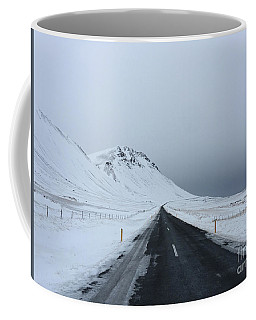 Lonely Road On Snaefellsnes Peninsula Coffee Mug