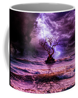 Lonely Tree And The Wild Weather Coffee Mug by Lilia D