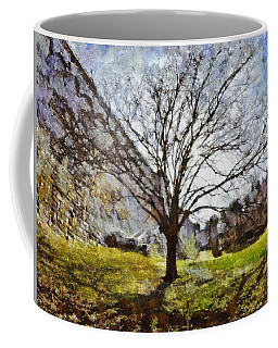 Coffee Mug featuring the painting Lonely Tree by Derek Gedney