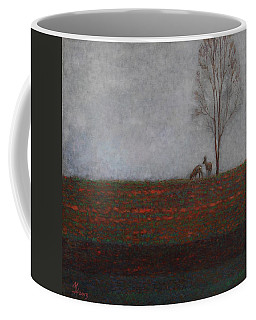 Lonely Tree With Two Roes Coffee Mug