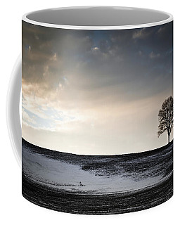 Coffee Mug featuring the photograph Lonesome Tree On A Hill IIi by David Sutton