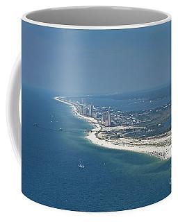Long, Aerial, Beach View Coffee Mug