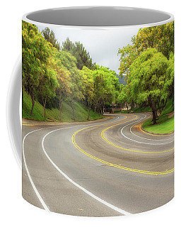 Coffee Mug featuring the photograph Long And Winding Road by Alison Frank