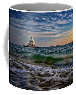 Long Beach Bar Lighthouse Coffee Mug