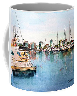 Long Beach Coastal View Coffee Mug