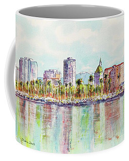 Long Beach Coastline Reflections Coffee Mug