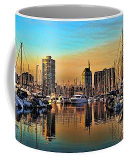 Coffee Mug featuring the photograph Long Beach Harbor by Mariola Bitner