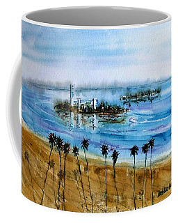 Long Beach Oil Islands Before Sunset Coffee Mug