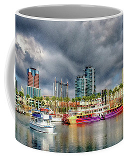 Long Beach Shoreline Marina Coffee Mug by Joseph Hollingsworth