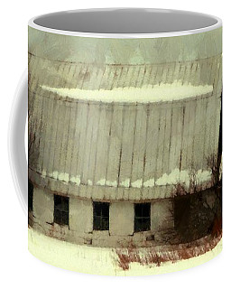 Long Cold Winter - Winter Barn Coffee Mug by Janine Riley