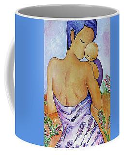 Long Impasto Motherhood Vertical Painting  Coffee Mug