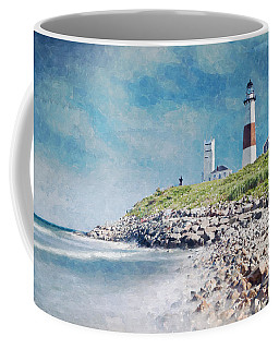 Long Island Lighthouse Coffee Mug by Kai Saarto
