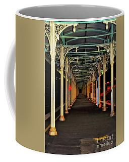 Coffee Mug featuring the photograph Long Platform Albury Station By Kaye Menner by Kaye Menner