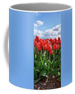 Long Red Tulips Coffee Mug by Mihaela Pater