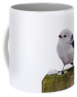 Long-tailed Tit On The Pole Coffee Mug by Torbjorn Swenelius