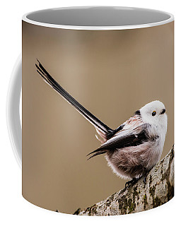 Coffee Mug featuring the photograph Long-tailed Tit Wag The Tail by Torbjorn Swenelius